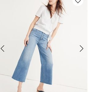 Madewell wise leg crop button front edition